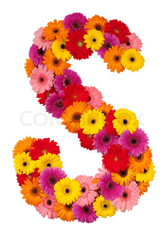 S Alphabet In Flowers ... حرف s ,photos character s, صور حروف رومانسية 2017