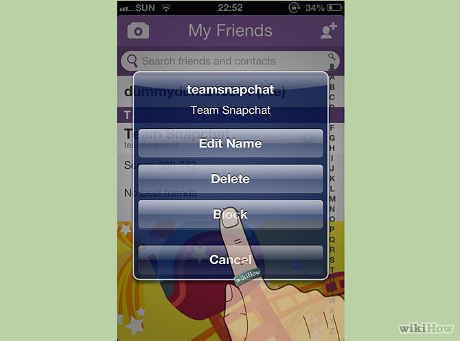 ����� ��� �� ��� ���� ��� ������ ��� � ��� ����� ����� , How can ban or delete friends on Snapchat 2015_1415813228_309.
