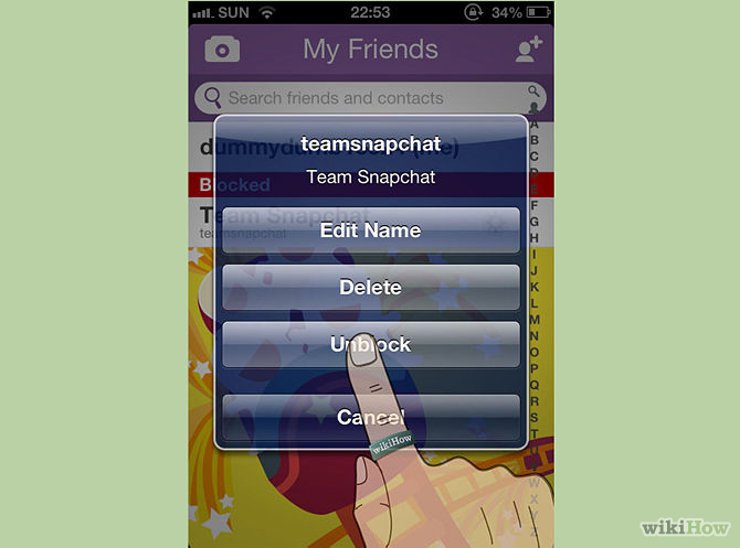 ����� ��� �� ��� ���� ��� ������ ��� � ��� ����� ����� , How can ban or delete friends on Snapchat 2015_1415813228_769.