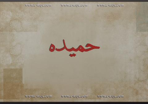 صور اسم حميدة مزخرف انجليزى , معنى اسم حميدة و شعر و غلاف و رمزيات 2016