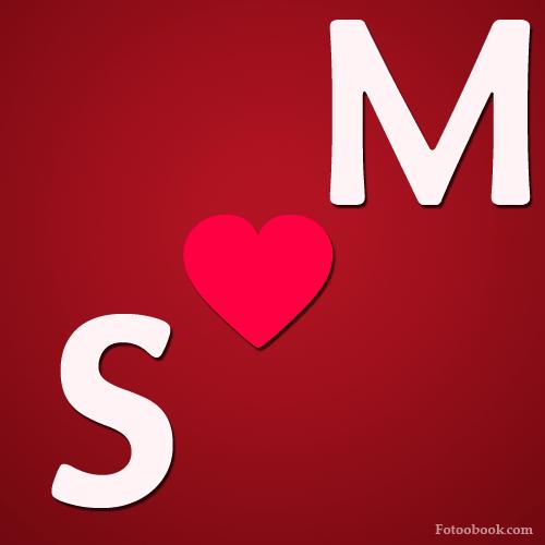 صور حرف M و S في قلب رومانسية S مع M بعض M S M S صقور الإبدآع