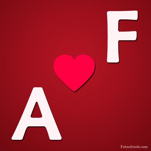 صور حرف A مع F , صور a و F رومانسية حب , خلفيات قلب جديدة 2016