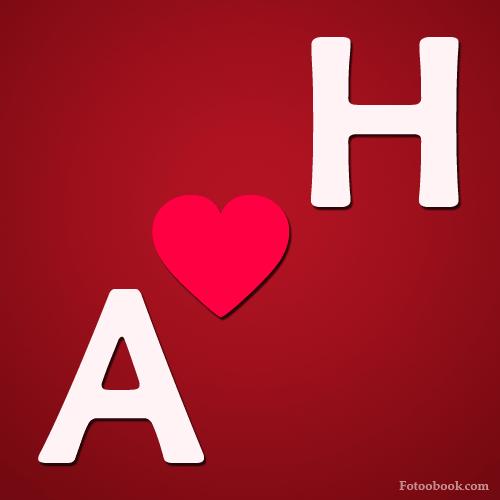 صور حرف A مع H , صور a و H رومانسية حب , خلفيات قلب جديدة 2016