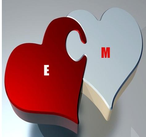 بالصور حرف E وحرف M
