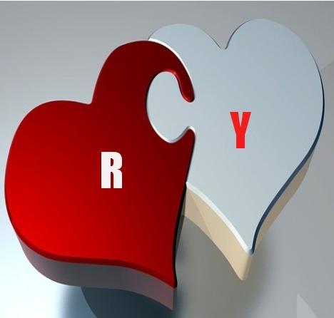 حرف Y R مع بعض صور حرف R و Y فى قلب حرف الآر مع الواى فى بطاقات مصورة صقور الإبدآع