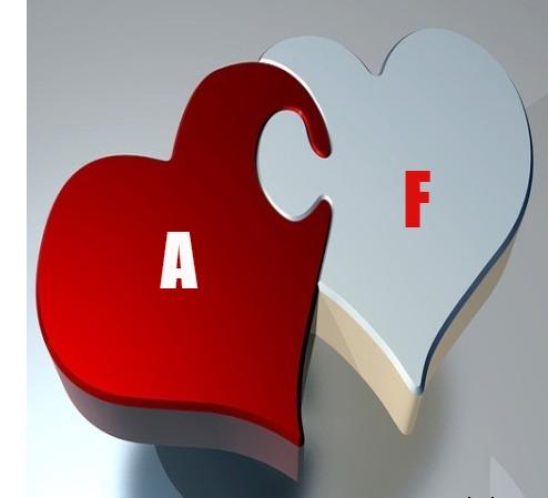 صورحرف A مع F قلب واحد بطاقات حرف A مع حرف F اجمل حرف الاى مع حرف الإف بالانجليزى بالصور صقور الإبدآع