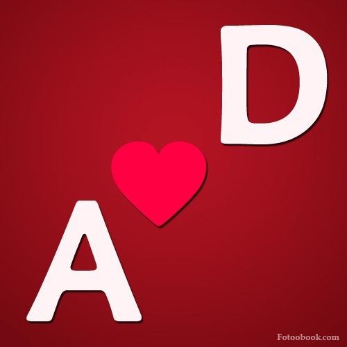 صور حرف A مع حرف D مع بعض بطاقات حرف A مع حرف D اجمل حرف الاى مع حرف الدى بالانجليزى بالصور مسا بوست