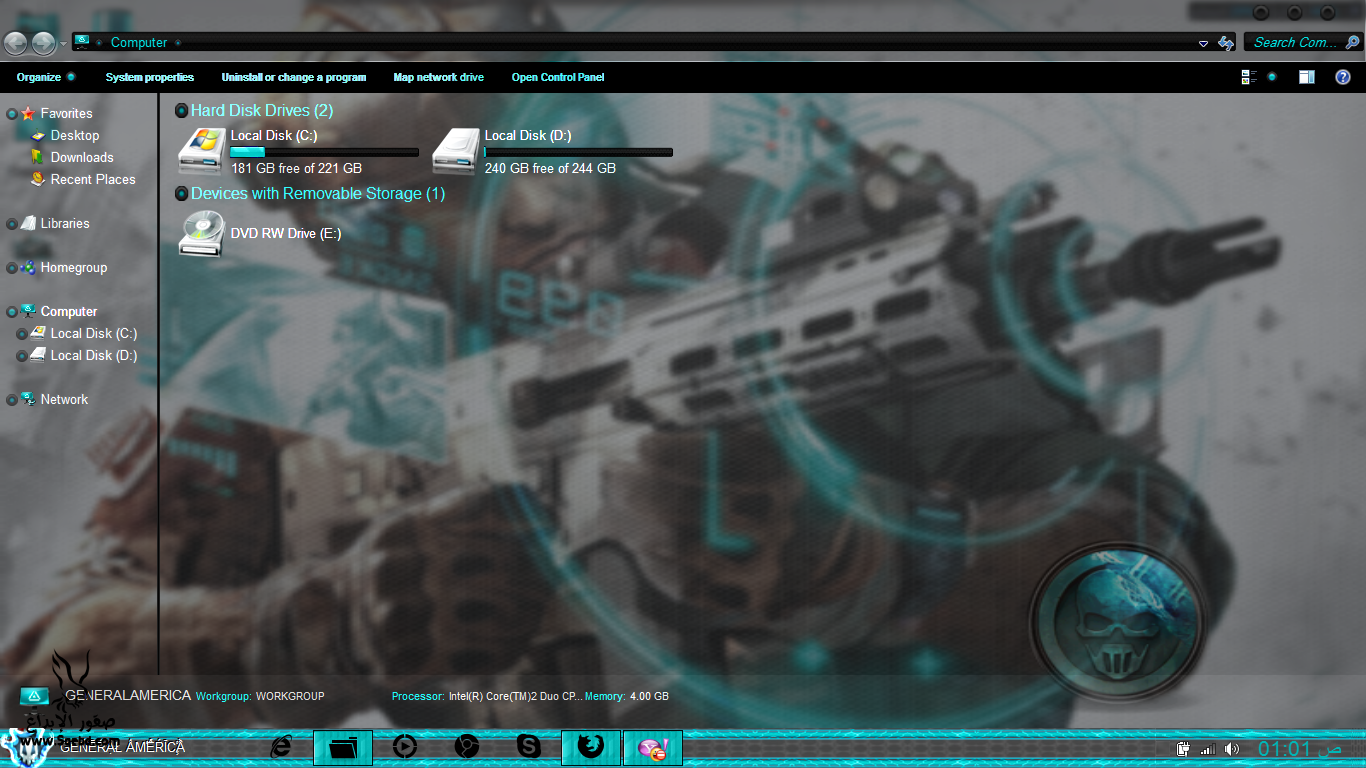 ��� ���� ����� ������7 , ��� �����7 ��� ���� ����� Ghost Recon Windows Theme Free Download 2014 2013_1373094914_403.