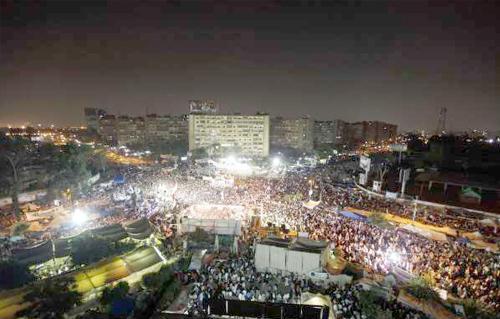 صور مؤيدين مرسي برابعة العدوية ضد الانقلاب - صور إعتصام رابعة العدوية المؤيدة لمرسي 2013_1374706280_419.