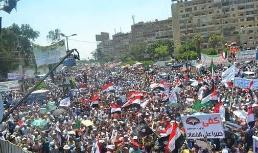 صور مؤيدين مرسي برابعة العدوية ضد الانقلاب - صور إعتصام رابعة العدوية المؤيدة لمرسي 2013_1374706281_368.