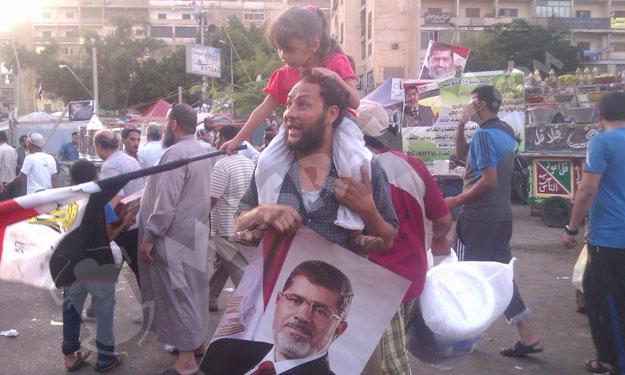 صور مؤيدين مرسي برابعة العدوية ضد الانقلاب - صور إعتصام رابعة العدوية المؤيدة لمرسي 2013_1374706283_687.