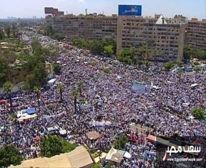 صور مؤيدين مرسي برابعة العدوية ضد الانقلاب - صور إعتصام رابعة العدوية المؤيدة لمرسي 2013_1374706283_815.