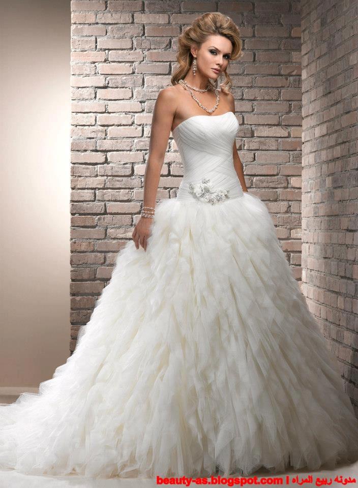 أجمل فستان للزفاف - صور فساتين زفاف 2013_1374706647_896.
