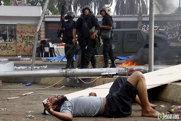 صور الهجوم على رابعة العدوية والنهضة من قبل الجيش - صور فض إعتصام رابعة العدوية والنهضة 2013_1376505177_279.