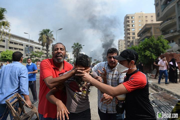 صور الهجوم على رابعة العدوية والنهضة من قبل الجيش - صور فض إعتصام رابعة العدوية والنهضة 2013_1376505177_640.