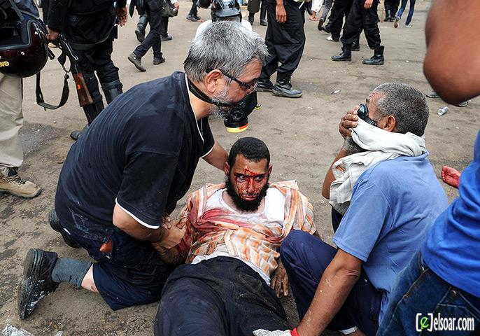 صور الهجوم على رابعة العدوية والنهضة من قبل الجيش - صور فض إعتصام رابعة العدوية والنهضة 2013_1376505177_886.